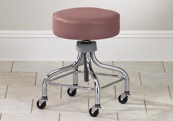 Chrome Base Exam Stool w/ Foot Rest