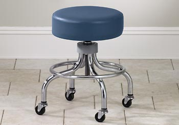 Chrome Base Exam Stool w/ Foot Ring