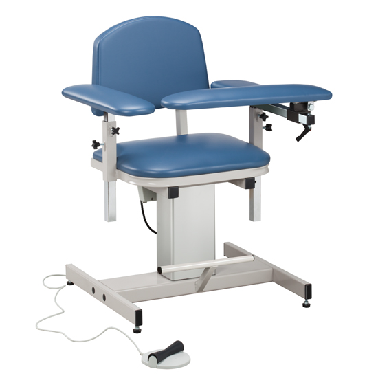 Power Blood Drawing Chair with Padded Arms