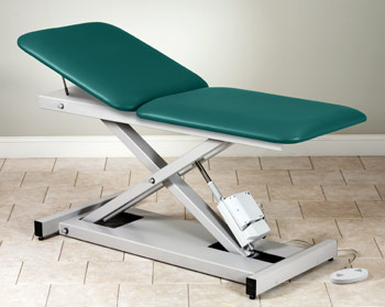 Open Base Power Table with Adjustable Backrest
