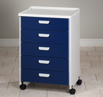 Molded Top Mobile Treatment Cabinet with 5 Drawers