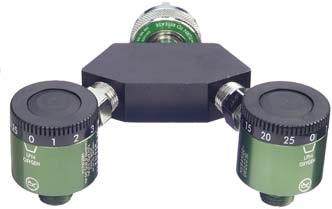 Quick-Click™ Oxygen Dual Flowmeter