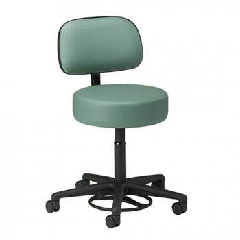 Hands-Free / Foot Operated Stool with Backrest