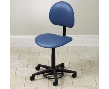 Hands-Free / Foot Operated Stool with Back