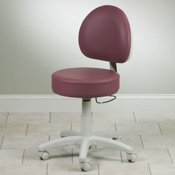 5-Leg Pneumatic Stool with Contour, D-Shaped Backrest