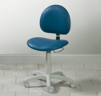 5-Leg Pneumatic Stool with Contour Seat and Backrest