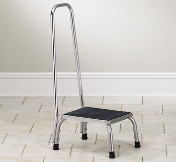 Stainless Steel Step Stool with Hand Rail